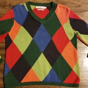 Vintage Tommy Jean's Multi-colored Argyle Sweater